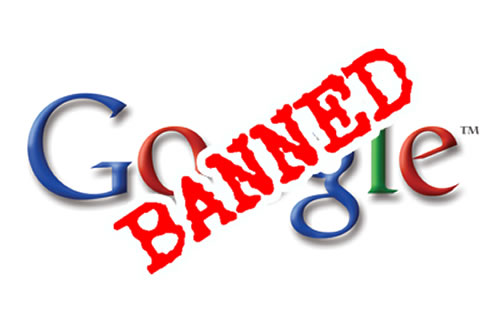 Banned from Google