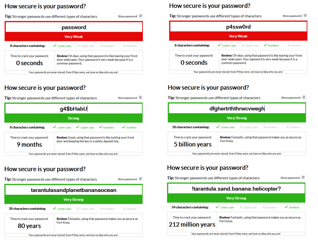 Password tests
