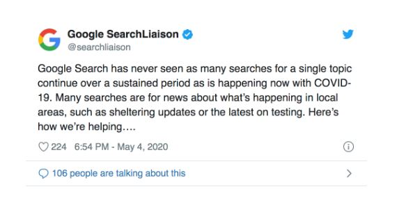 search update google
