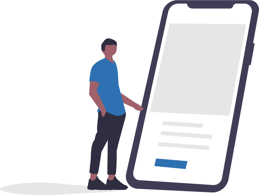 image of person with mobile phone