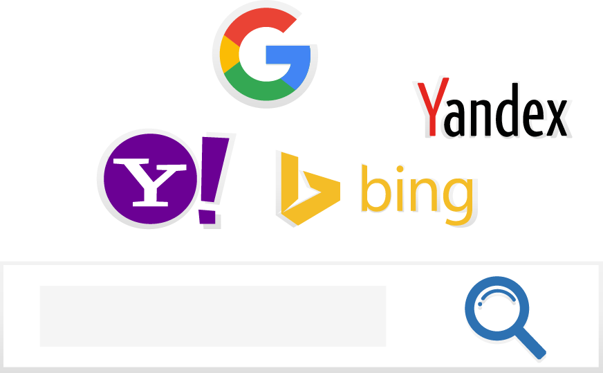 Graphic image of search icons