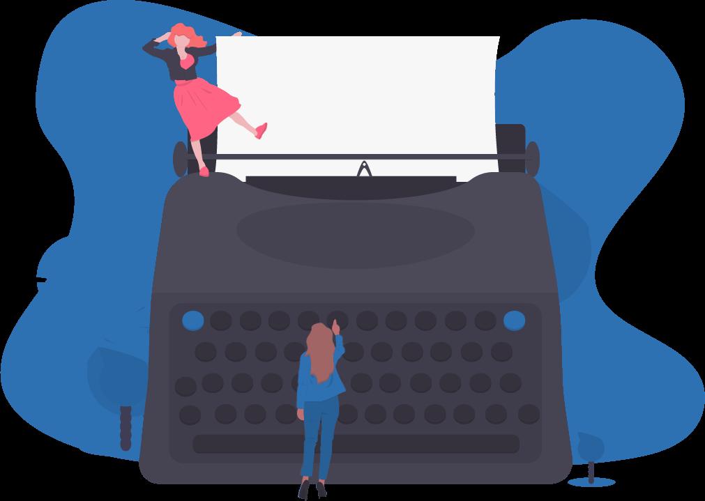 Graphic image of typewriter